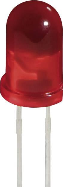 LED dioda kulatá s vývody L 53 LID, L-53 LID, 2 mA, 5 mm, 2 V, 60 °, 5 mcd, červená