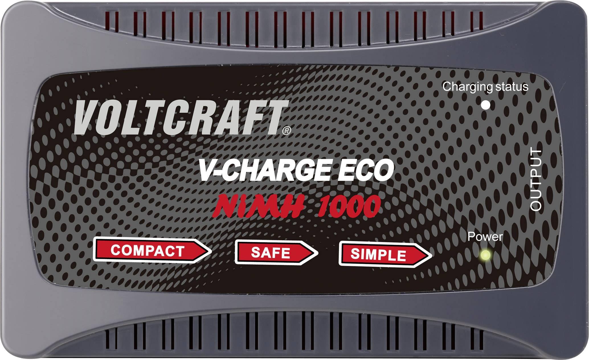 Modelárska nabíjačka VOLTCRAFT Eco NiMh 1000 1460625, 230 V, 1 A