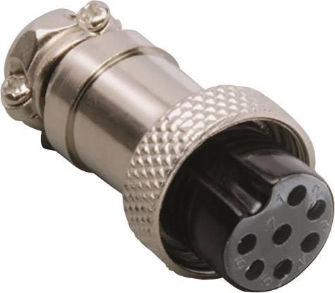 Mini DIN konektor spojka, rovná BKL Electronic 0206007, počet pinov: 4, strieborná, 1 ks