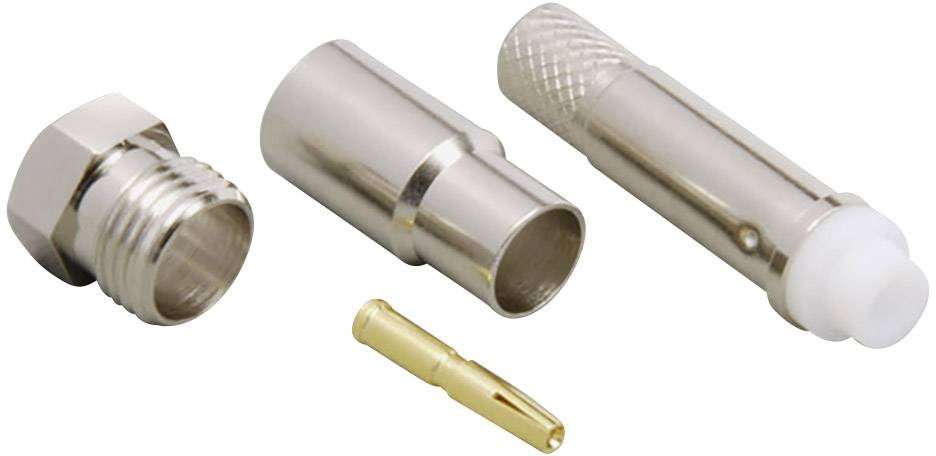 FME konektor BKL Electronic 0412055 – spojka, rovná, 5.5 mm, 50 Ohm, 1 ks