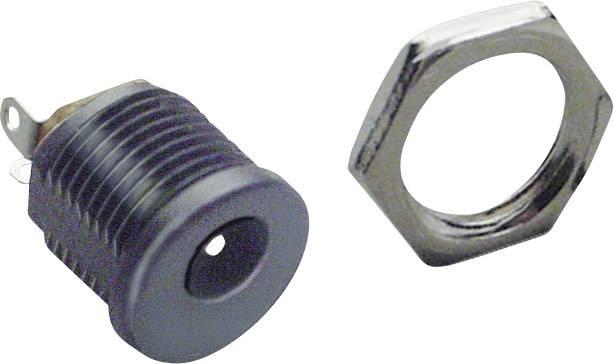 Nízkonapěťový konektor BKL Electronic 072780, zásuvka, vestavná vertikální, 6.3 mm, 2.1 mm, 1 ks