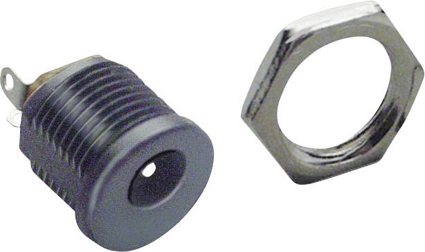 Nízkonapěťový konektor BKL Electronic 072781, zásuvka, vestavná vertikální, 6.3 mm, 2.5 mm, 1 ks