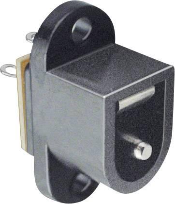 Nízkonapěťový konektor BKL Electronic 072727, přírubová zásuvka, 6.4 mm, 2.5 mm, 1 ks