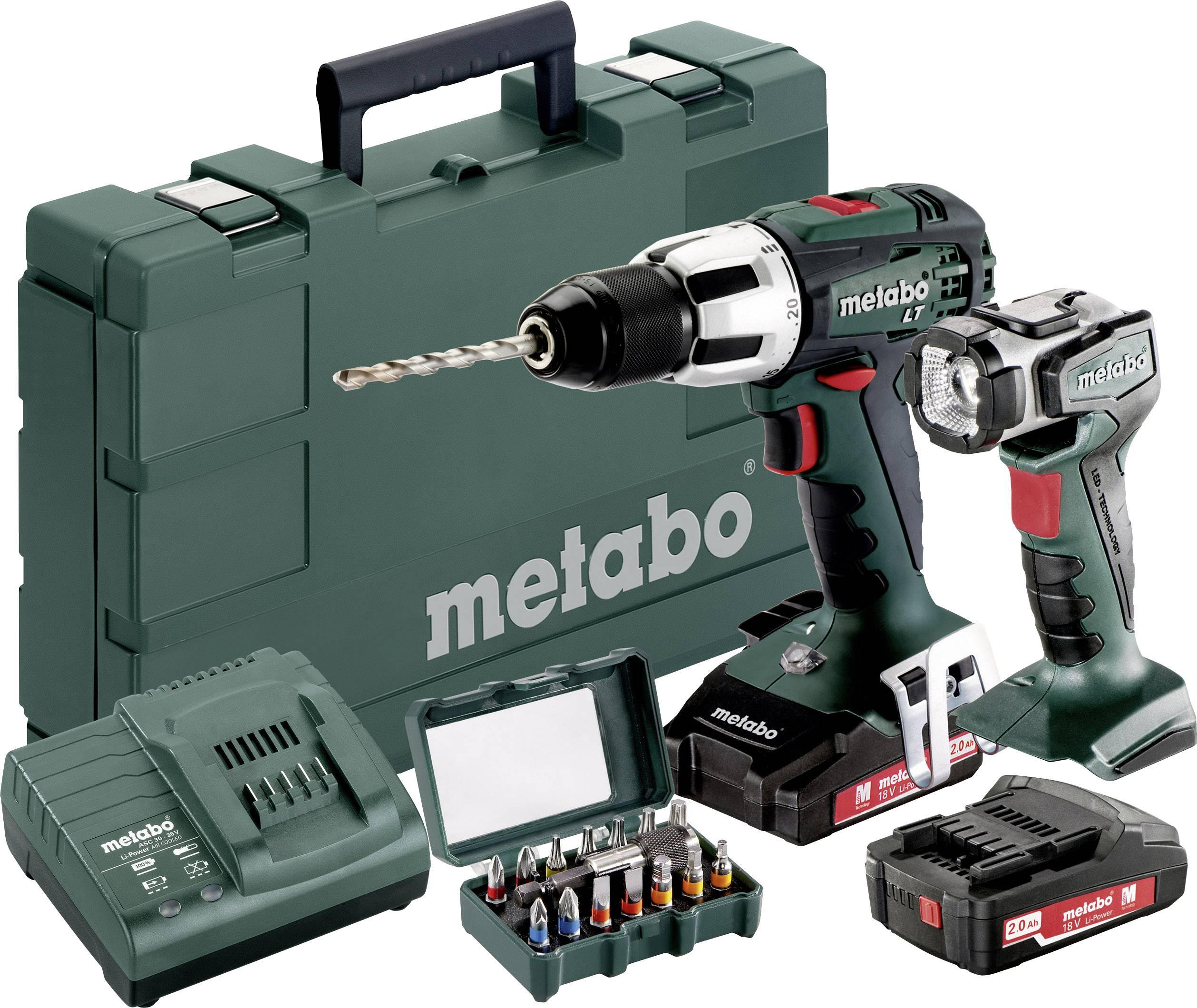 Aku příklepová vrtačka Metabo SB 18 LT 602103610, 18 V, 2 Ah, Li-Ion akumulátor