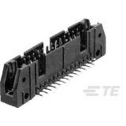 Kolíková lišta TE Connectivity 5102160-1 2.54 mm, počet pólů: 10, 1 ks