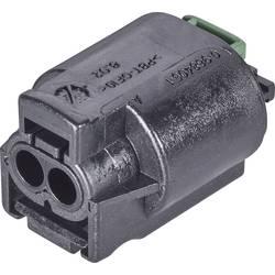 Zásuvkový konektor na kabel TE Connectivity 1-967644-1, kontakty v řadě 2, pólů 2, 1 ks