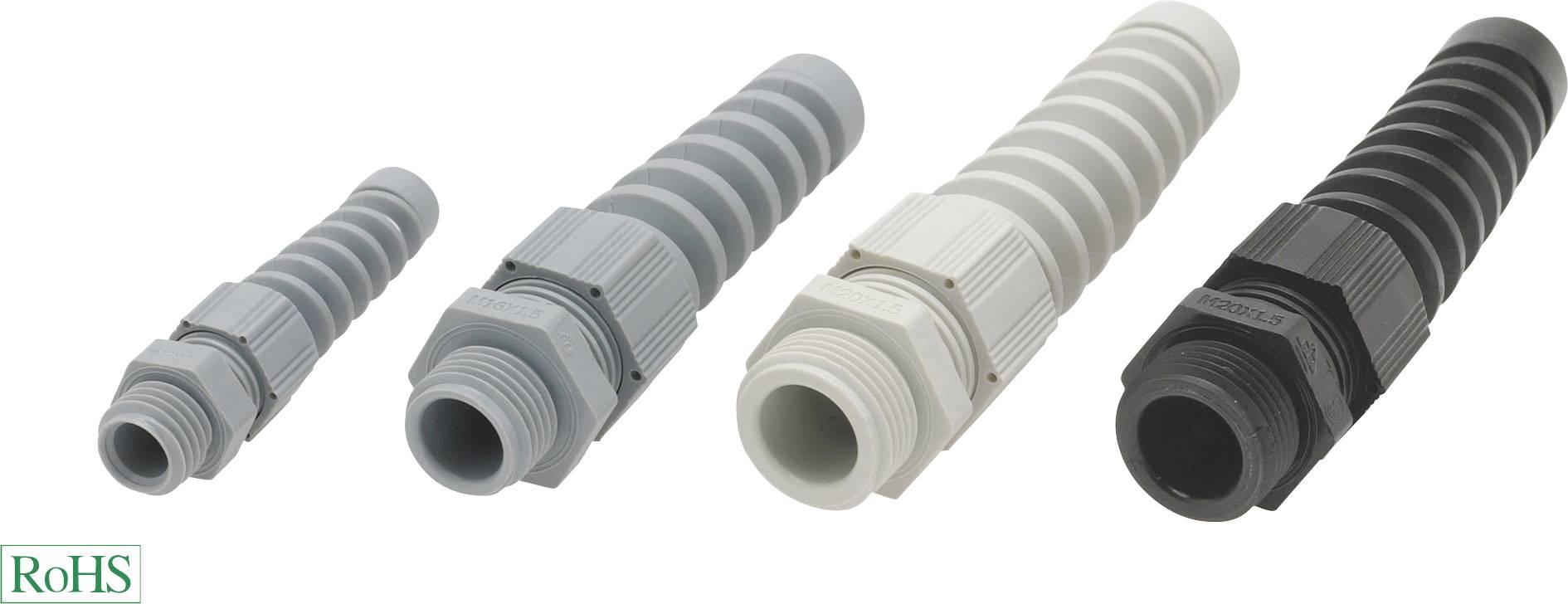 Kabelová průchodka Helukabel HT-K 93852, polyamid, délka závitu 8 mm, stříbrnošedá (RAL 7001), 1 ks
