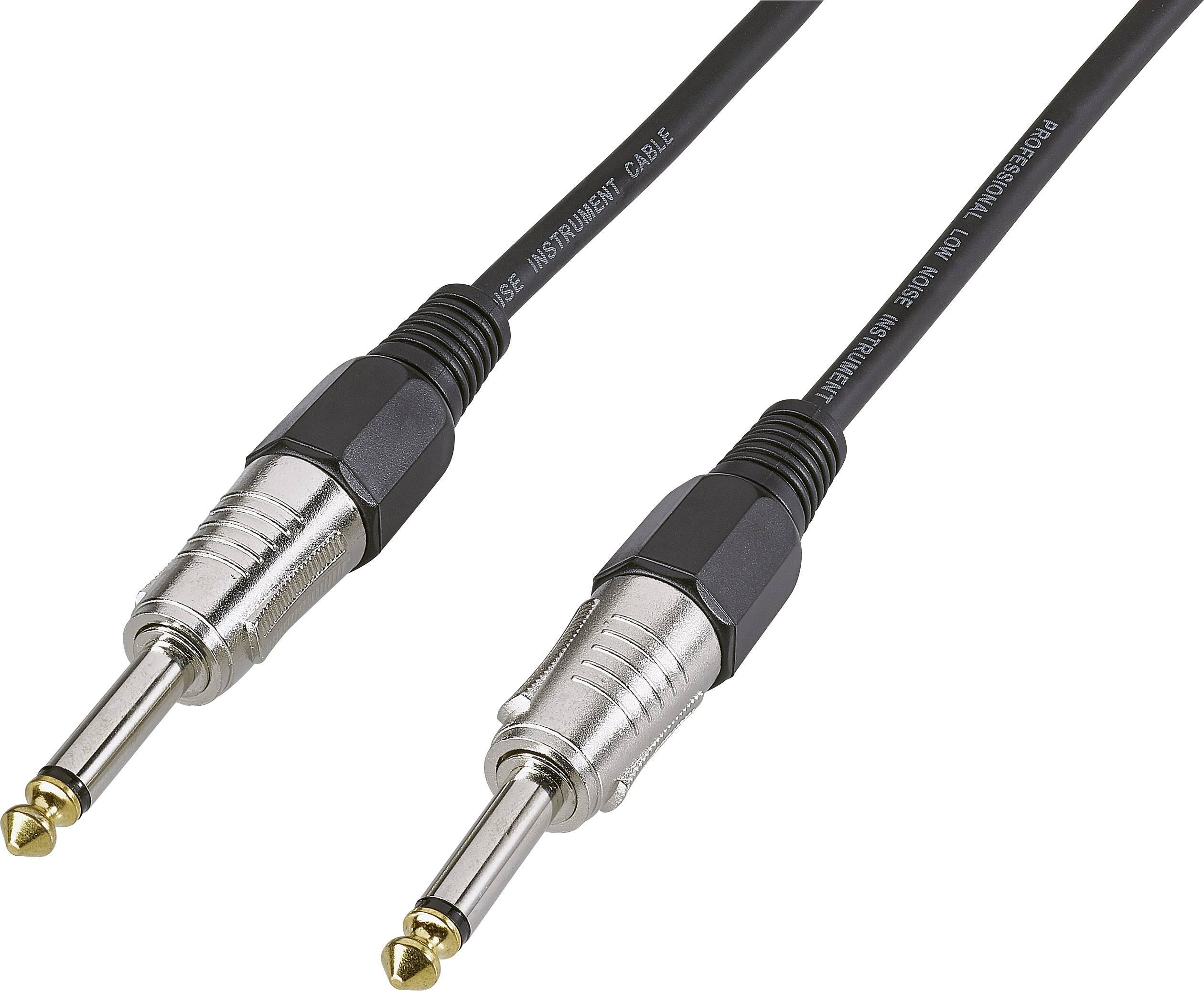 Kabel s jack konektory Basetech 269006C, 3 m, černá