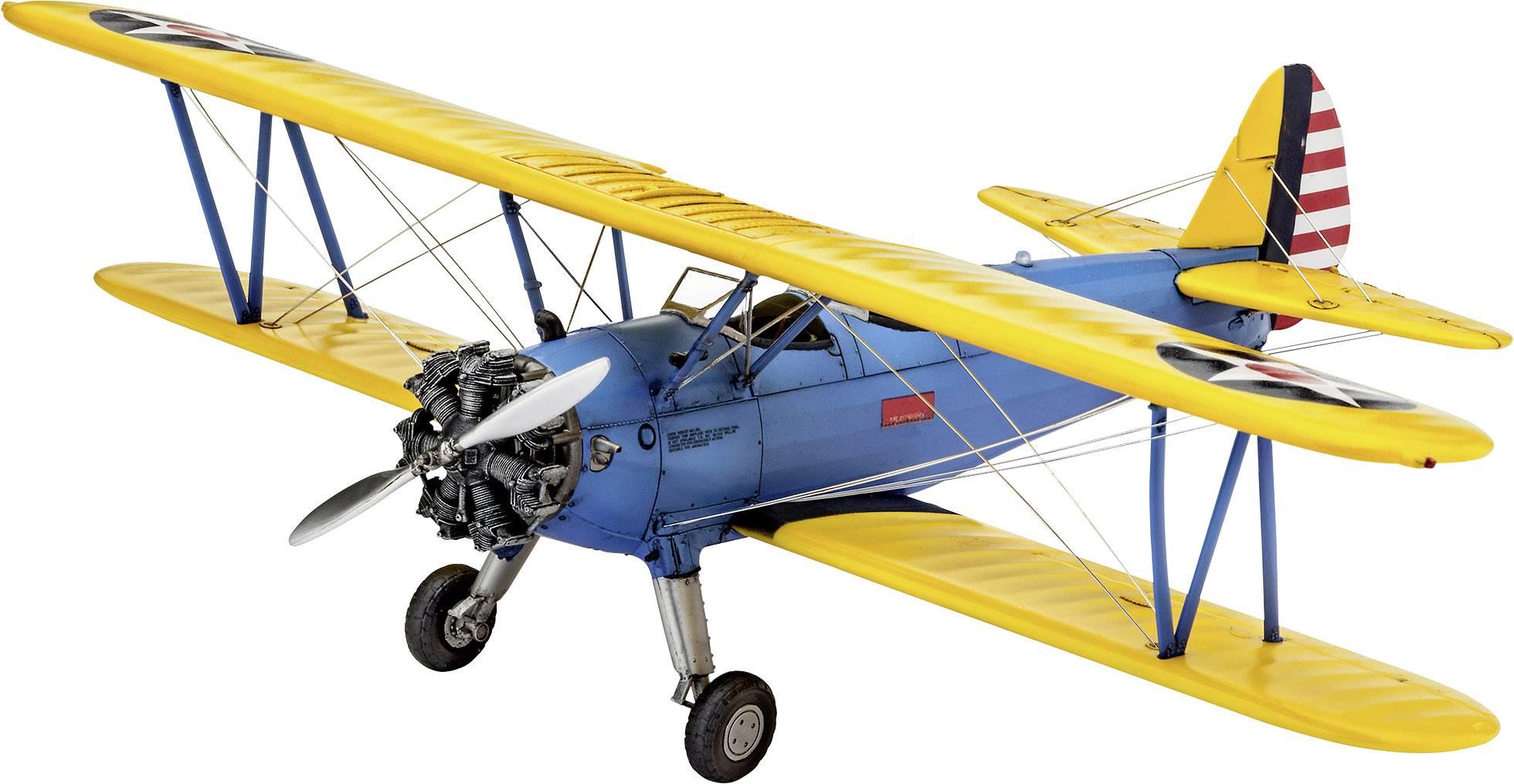 Model lietadla, stavebnica Revell Stearman PT-17 Kaydet 03957 03957, 1:48