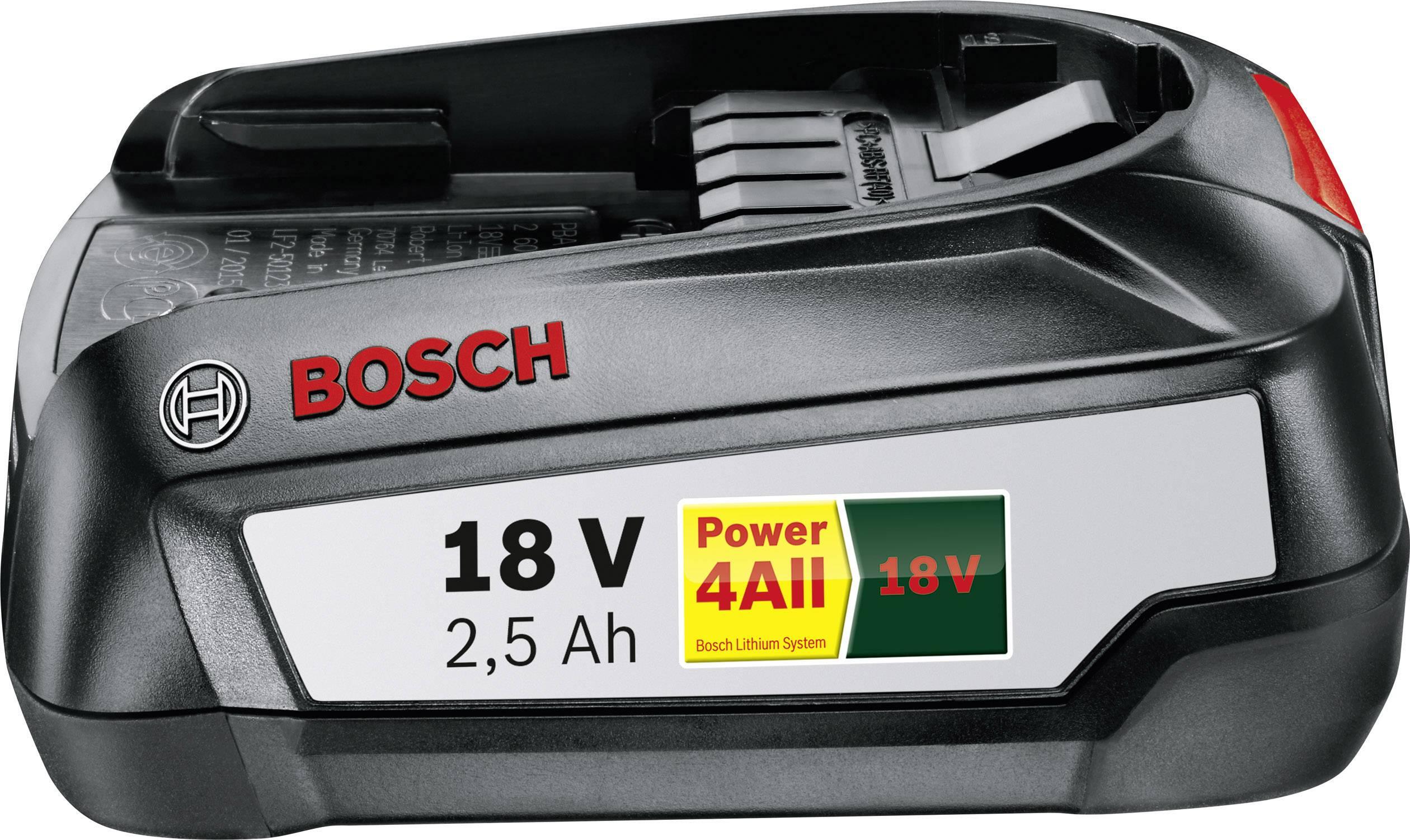 Náhradný akumulátor pre elektrické náradie, Bosch Home and Garden PBA 1600A005B0, 18 V, 2.5 Ah, Li-Ion akumulátor