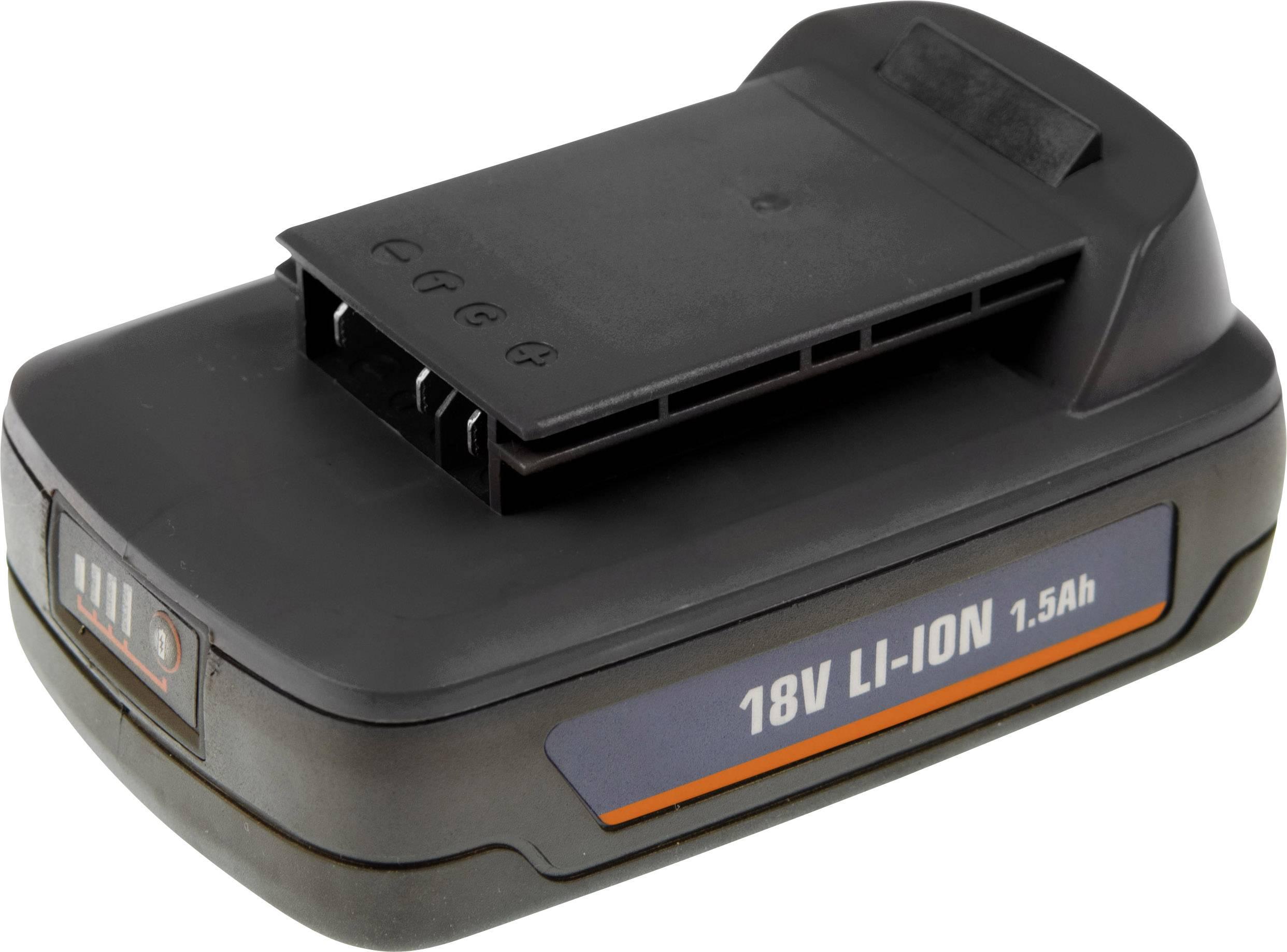 Náhradný akumulátor pre elektrické náradie, Ferm CDA1077S CDA1077S, 18 V, 1.5 Ah, Li-Ion akumulátor