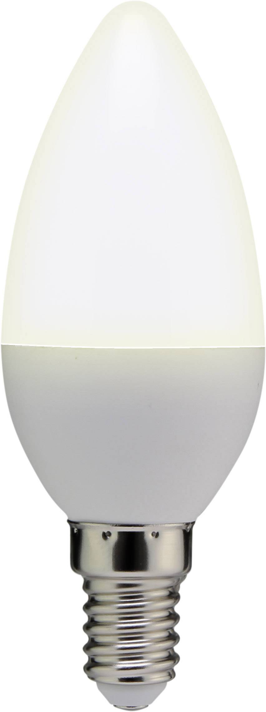 LED Basetech 230 V, E14, 3.5 W = 25 W, 100 mm, teplá bílá, A+ 1 ks