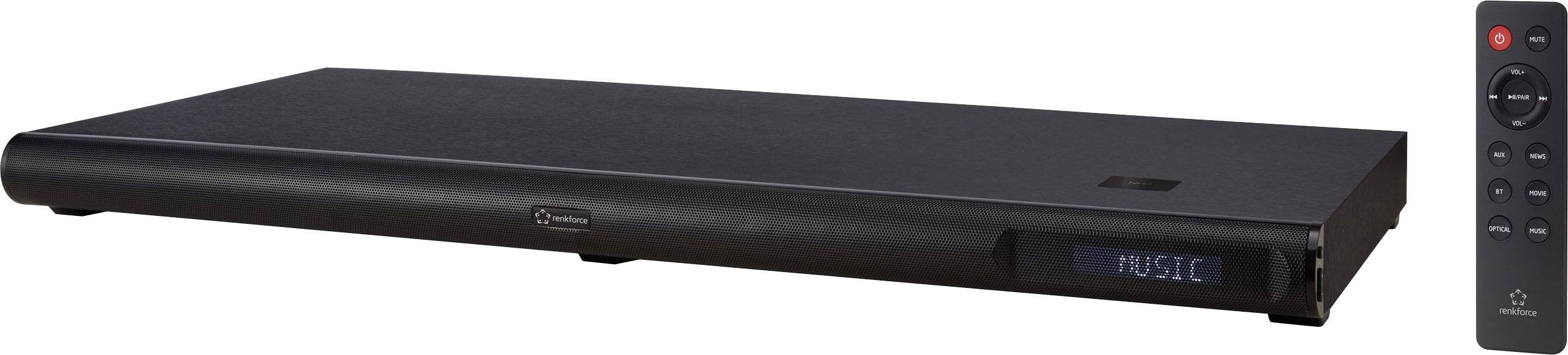 Soundbase Renkforce TT318 Bluetooth®, NFC, čierna