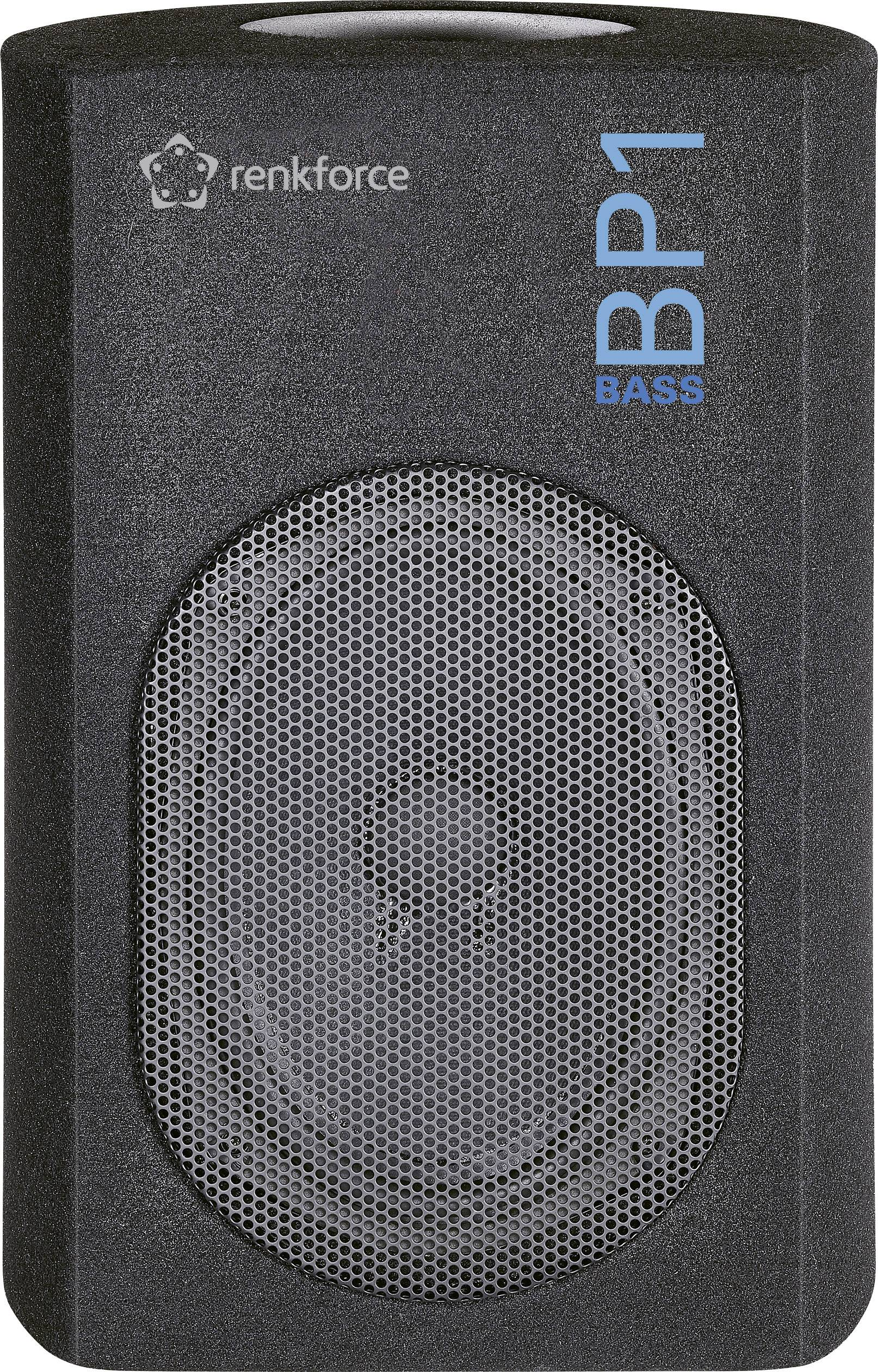 Pasivní subwoofer do auta Renkforce Bass BP1, 200 W