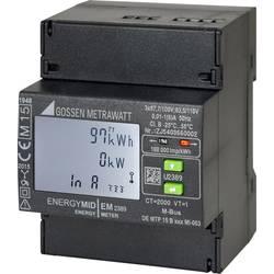 Třífázový elektroměr s připojením měniče digitální Úředně schválený: Ano Gossen Metrawatt U2387-V012