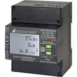 Třífázový elektroměr s připojením měniče digitální Úředně schválený: Ano Gossen Metrawatt U2389-V015