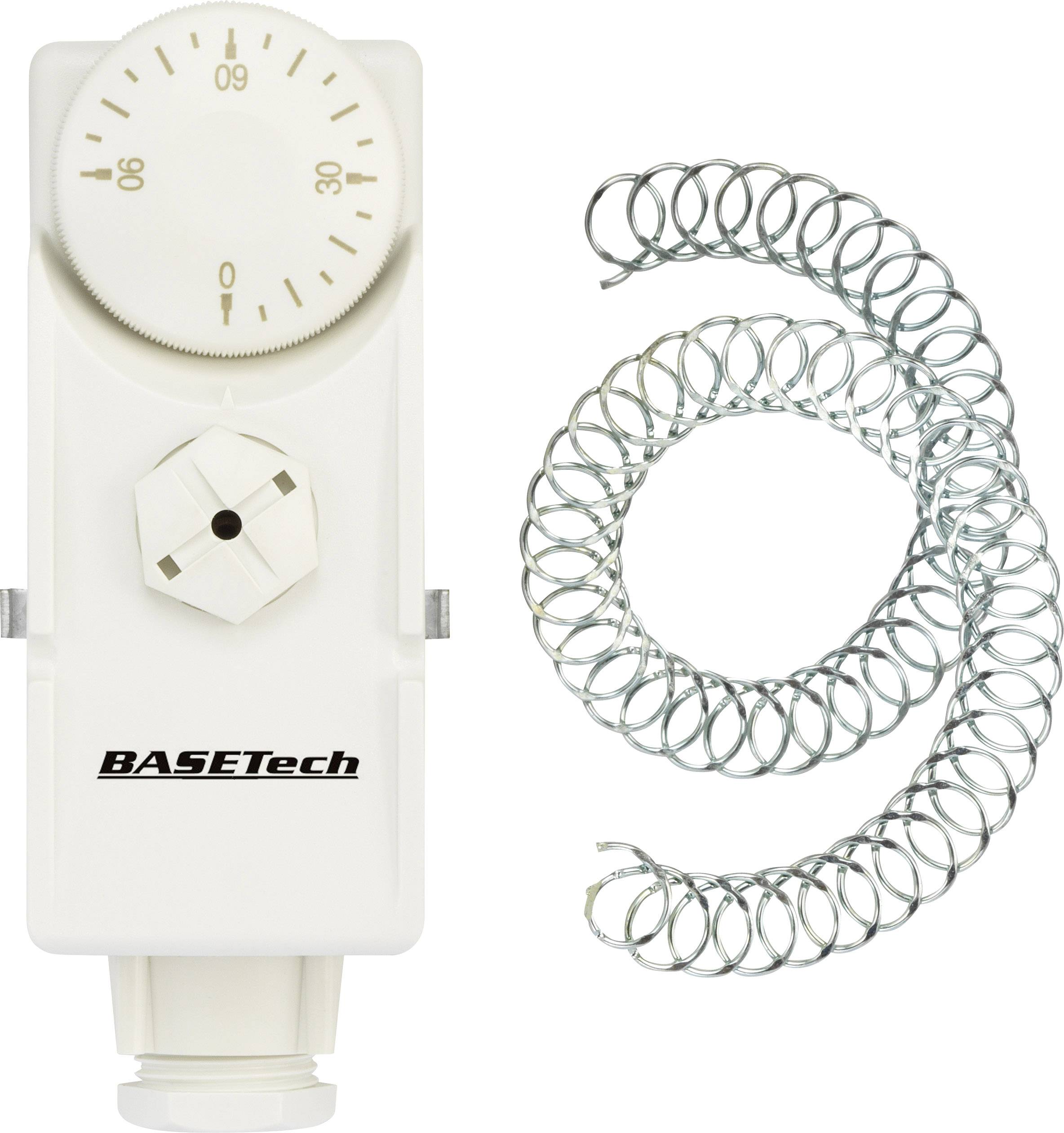 Termostat na potrubí Basetech GB-0/90A, 0 až 90 °C