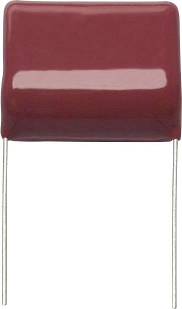 Fóliový kondenzátor Panasonic ECW-F4105JB radiální, 1 µF, 400 V/DC,5 %, 25 mm, (d x š) 28 mm x 15 mm, 1 ks