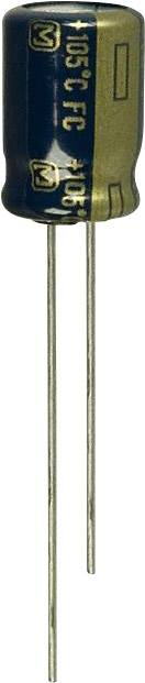 Elektrolytický kondenzátor Panasonic EEU-FC1A391, radiálne vývody, 390 µF, 10 V, 20 %, 1 ks