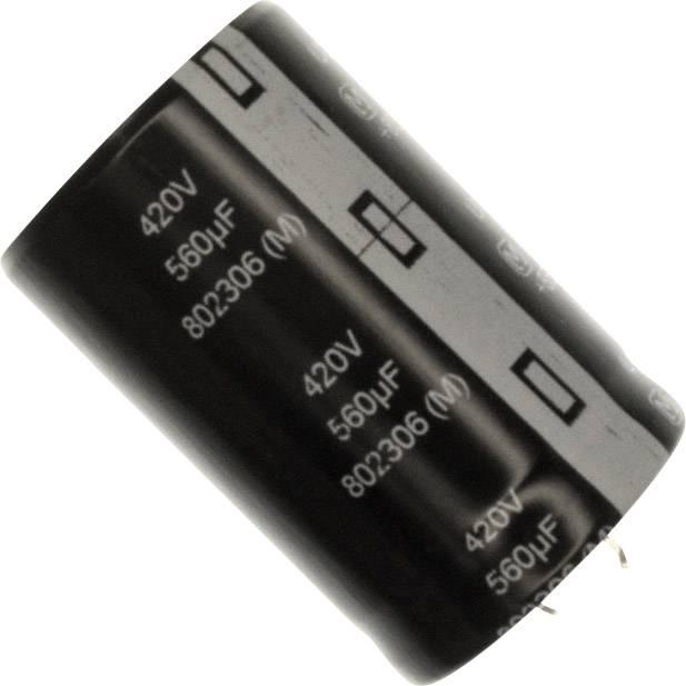 Elektrolytický kondenzátor Panasonic EET-UQ2S561KF, Snap In, 560 µF, 420 V, 20 %, 1 ks