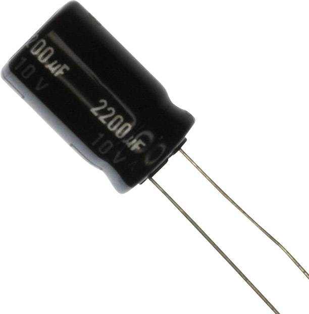 Elektrolytický kondenzátor Panasonic EEU-EB2G220, radiálne vývody, 22 µF, 400 V, 20 %, 1 ks