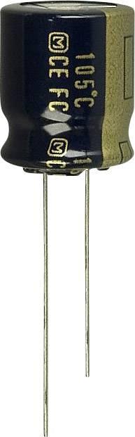 Elektrolytický kondenzátor Panasonic EEU-FC1H221S, radiálne vývody, 220 µF, 50 V, 20 %, 1 ks