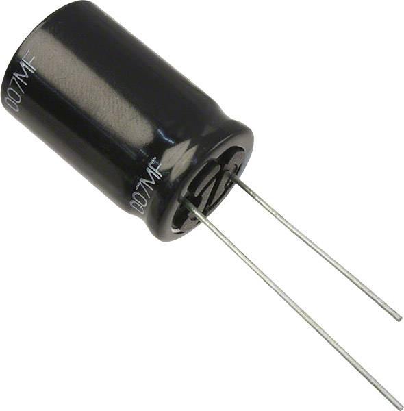 Elektrolytický kondenzátor Panasonic EEU-FR1J221L, radiálne vývody, 220 µF, 63 V, 20 %, 1 ks