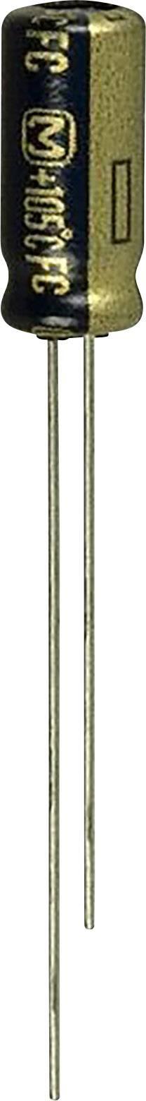 Elektrolytický kondenzátor Panasonic EEU-FC1V221, radiálne vývody, 220 µF, 35 V, 20 %, 1 ks
