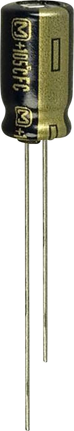 Elektrolytický kondenzátor Panasonic EEU-FC1J220, radiálne vývody, 22 µF, 63 V, 20 %, 1 ks