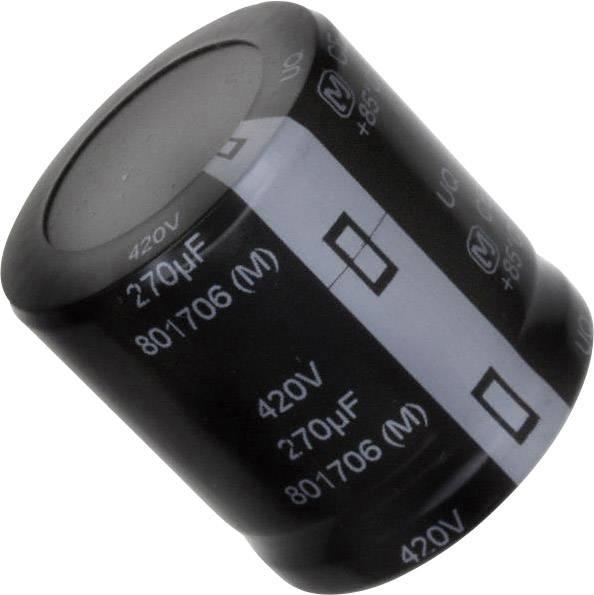 Elektrolytický kondenzátor Panasonic EET-UQ2S271KA, Snap In, 270 µF, 420 V, 20 %, 1 ks