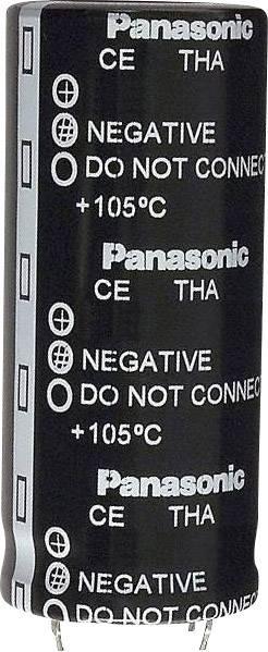 Elektrolytický kondenzátor Panasonic ECE-T1CA104EA, Snap In, 100000 µF, 16 V, 20 %, 1 ks