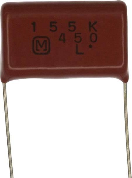 Fóliový kondenzátor Panasonic ECQ-E2W155KH radiální, 1.5 µF, 450 V/DC,10 %, 22.5 mm, (d x š) 25.7 mm x 8.2 mm, 1 ks