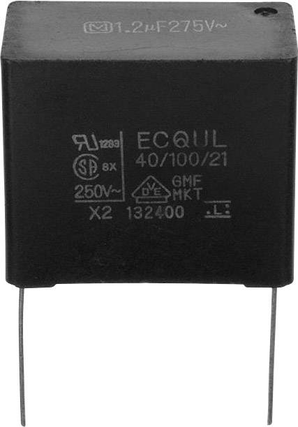 Fóliový kondenzátor Panasonic ECW-FD2W474K radiální, 0.47 µF, 450 V/DC,10 %, 15 mm, (d x š) 17.5 mm x 5.8 mm, 1 ks