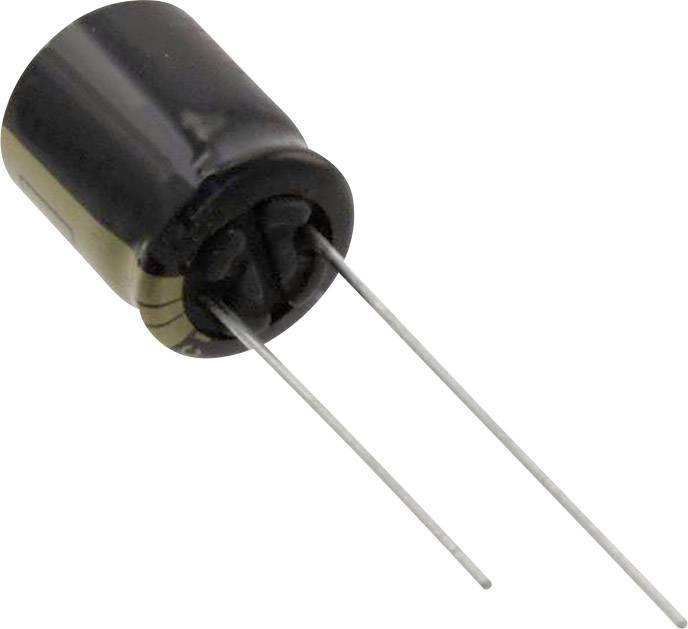 Elektrolytický kondenzátor Panasonic EEU-FM1V221, radiálne vývody, 220 µF, 35 V, 20 %, 1 ks