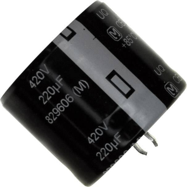Elektrolytický kondenzátor Panasonic EET-UQ2S221KA, Snap In, 220 µF, 420 V, 20 %, 1 ks