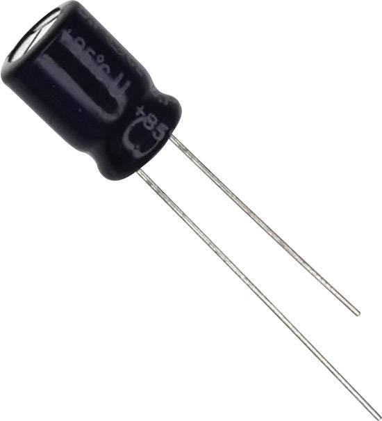 Elektrolytický kondenzátor Panasonic ECE-A1AN221U, radiálne vývody, 220 µF, 10 V, 20 %, 1 ks