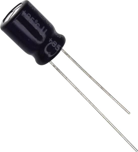 Elektrolytický kondenzátor Panasonic ECE-A1HN220U, radiálne vývody, 22 µF, 50 V, 20 %, 1 ks