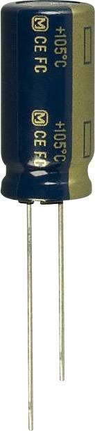 Elektrolytický kondenzátor Panasonic EEU-FC1J391, radiálne vývody, 390 µF, 63 V, 20 %, 1 ks