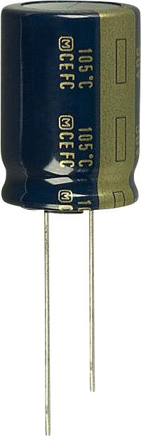Elektrolytický kondenzátor Panasonic EEU-FC1J561, radiálne vývody, 560 µF, 63 V, 20 %, 1 ks