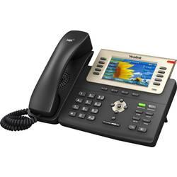 Šnúrový telefón, VoIP Yealink SIP-T29G konektor na slúchadlá, handsfree farebný-TFT/LCD čierna