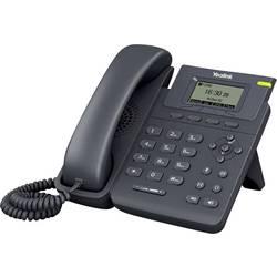 Šňůrový telefon, VoIP Yealink SIP-T19P handsfree, konektor na sluchátka barevný TFT/LCD černá