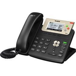 Šnúrový telefón, VoIP Yealink SIP-T23G konektor na slúchadlá, handsfree farebný-TFT/LCD čierna