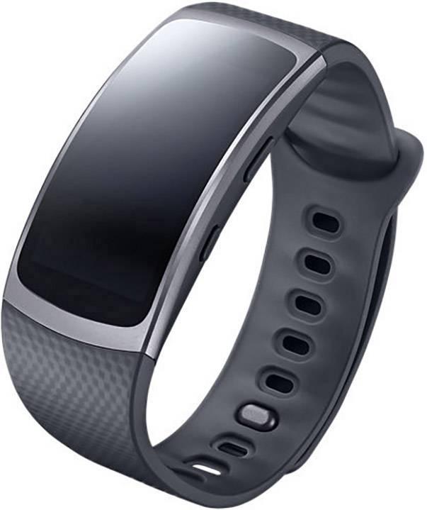"""Smartband inteligentné hodinky Samsung Gear Fit 2, 3.8 cm 1.5 """", tmavosivá"""