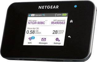 Cestovný 4G Wi-Fi hotspot NETGEAR AirCard 810 až pre 15 zariadení, 600 Mbit/s, čierna
