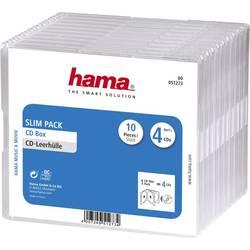 CD průchodky SlimPack 4 CD, 10 ks transparentní (š x v x h) 142 x 124 x 10 mm Hama