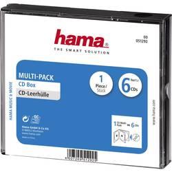 Průchodky na CD Multipack 6 CD černá (š x v x h) 142 x 125 x 24 mm Hama