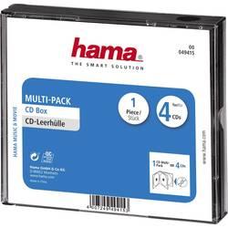 Průchodky na CD Multipack 4 CD černá (š x v x h) 142 x 125 x 24 mm Hama