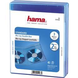 Blue-ray průchodky dvojité Blue-ray disky, 3ks modrá (š x v x h) 135 x 170 x 10 mm Hama