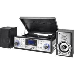 USB gramofon Dual NR 110, řemínkový pohon, stříbrná, černá