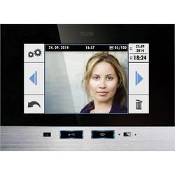 Kabelový domovní video telefon m-e modern-electronics, 41022, černá, nerezová ocel, vnitřní jednotka